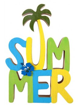 Lettres summer multicolore