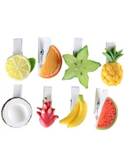 Sachet de 8 pinces fruits