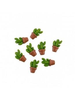 Sachet 8 cactus résine adhésifs