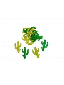 Sachet 12 confetti cactus bois