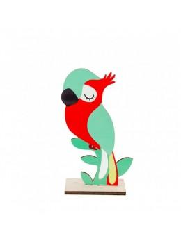 Centre de table perroquet bois 20cm