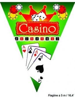 Guirlande fanions casino 5m