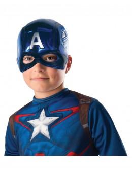 Demi-masque PVC Captain America™ enfant