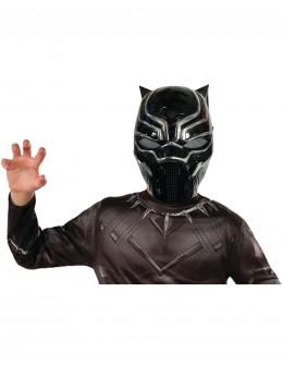 Demi-masque PVC Black Panther™ enfant