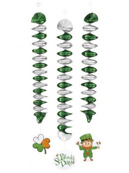 3 décorations Saint Patrick spirales