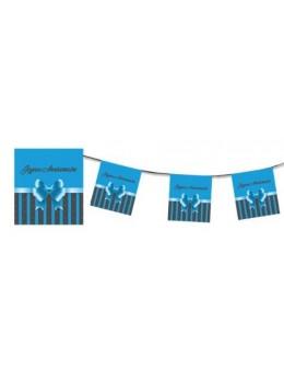 Guirlande Joyeux anniversaire bleue