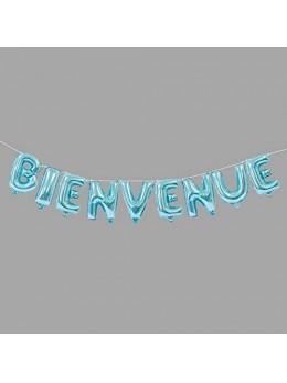 """Ballons lettre """"Bienvenue"""" bleu"""