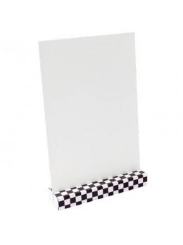 Porte menu damier avec carte