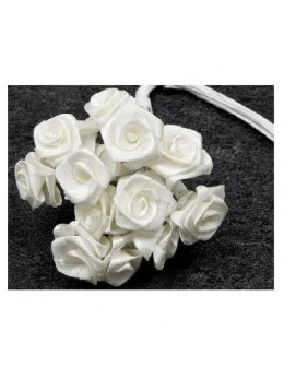 72 mini roses blanches