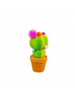 Pot cactus déco laine 19cm