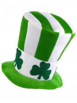 Chapeau haut-de-forme Saint Patrick trèfles