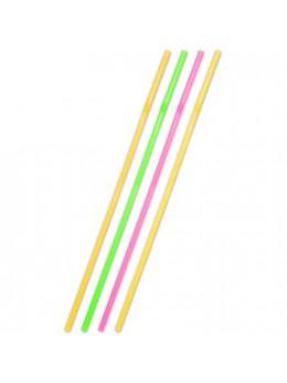 25 Pailles fluo géantes 44cm