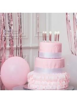 10 Bougies anniversaires rose gold paillettes