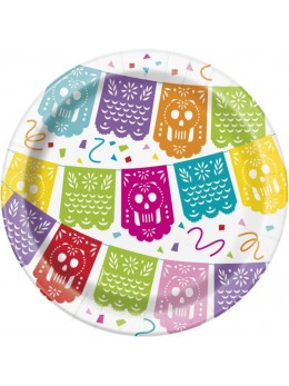 8 Assiettes fiesta mexicaine 23cm
