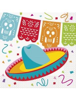 16 Serviettes fiesta mexicaine