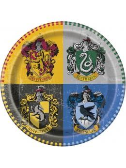 8 assiettes carton Harry Potter 23cm