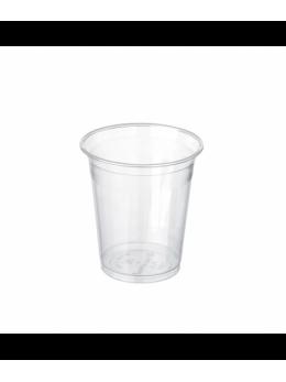 100 gobelets PLA biodégradables transparents