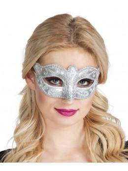 Masque loup vénitien argent