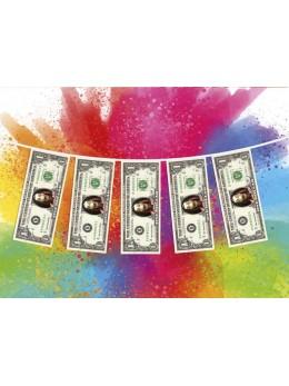 Guirlande 10 billets dollar casa de papel