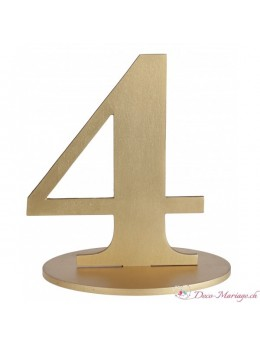 Marque table chiffre 4 doré