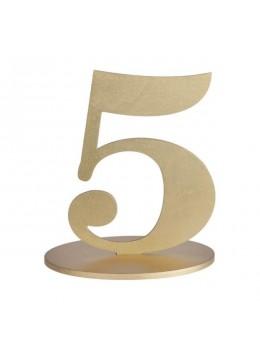 Marque table chiffre 5 doré
