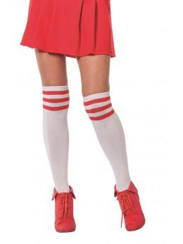Chaussettes de cheerleader blanches