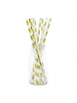 10 pailles ananas