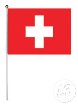 12 drapeaux de table Suisse