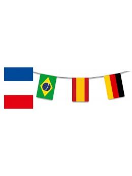 Guirlande plastique 24 pays coupe du monde foot féminine