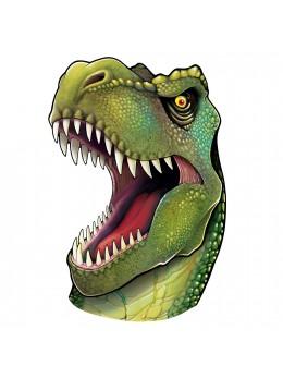 Déco carton  tête de dinosaure Trex géant