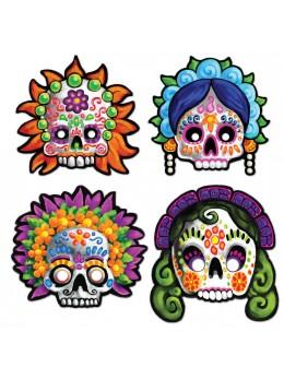 Lot de 4 masques Dia De Los Muertos