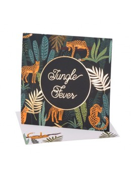 16 serviettes Jungle Fever Degrade De Vert et Dorure
