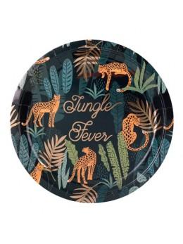 8 Assietets Jungle Fever Degradé de Veert et Dorure