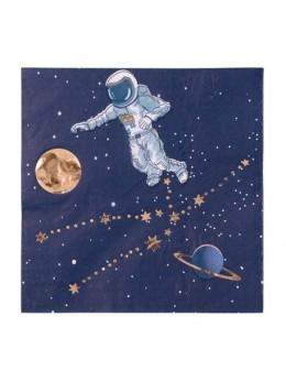 16 serviettes papier astronaute