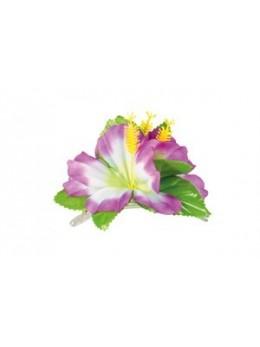Barette Fleur hawai violette