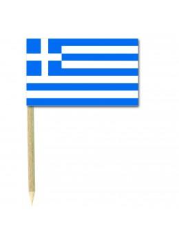 50 Mini drapeaux luxe Grèce