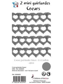 2 petites guirlandes coeur gris