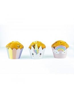 6 Cupcakes Baby Licorne