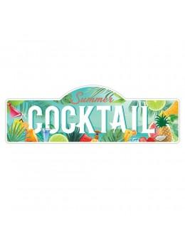 Plaque métal géante summer cocktail