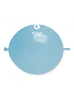 Sachet de 50 ballons double attache bleu