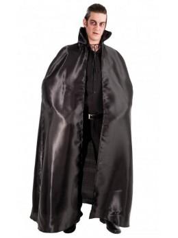 déguisement cape satin longue noire