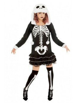 Déguisement squelette fille à capuche