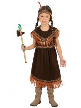 Déguisement indienne enfant longue