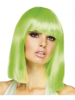 Perruque dance fluo vert