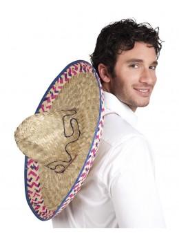 Chapeau sombrero mexicain paille naturelle