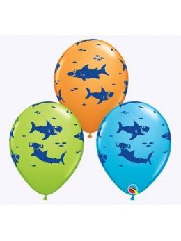 10 ballons thème requin