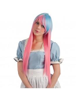 Perruque cosplay longue bicolore