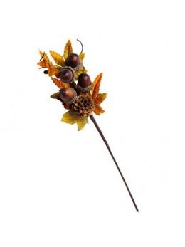 Branche d'automne glands et pomme de pin