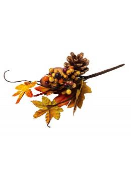 Branche feuille d'automne 2 glands et pomme de pin
