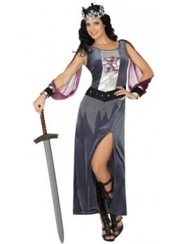 Déguisement femme médiévale grise